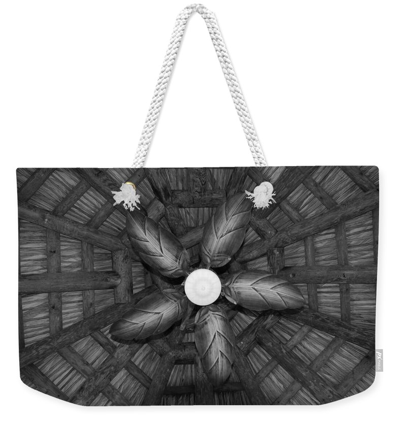 Fan Weekender Tote Bag featuring the photograph Wooden Fan by Rob Hans