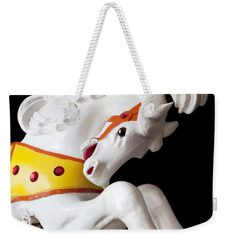 Wooden Horse Weekender Tote Bag featuring the photograph Wooden Horse 2 by Kelley King