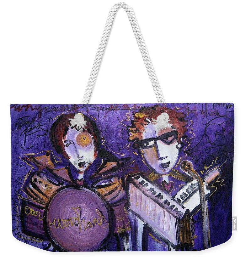 Laurie Maves Art Weekender Tote Bag featuring the painting Woodhands At Monolith by Laurie Maves ART