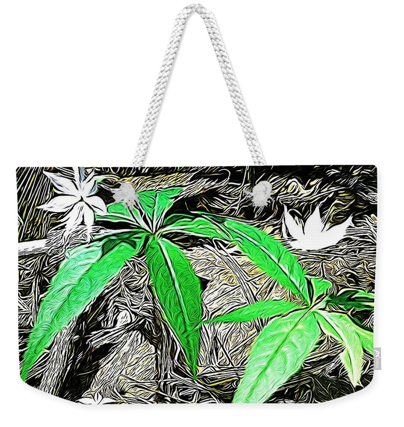 Wild Flower Weekender Tote Bag featuring the photograph Woodland Flowers by Modern Art
