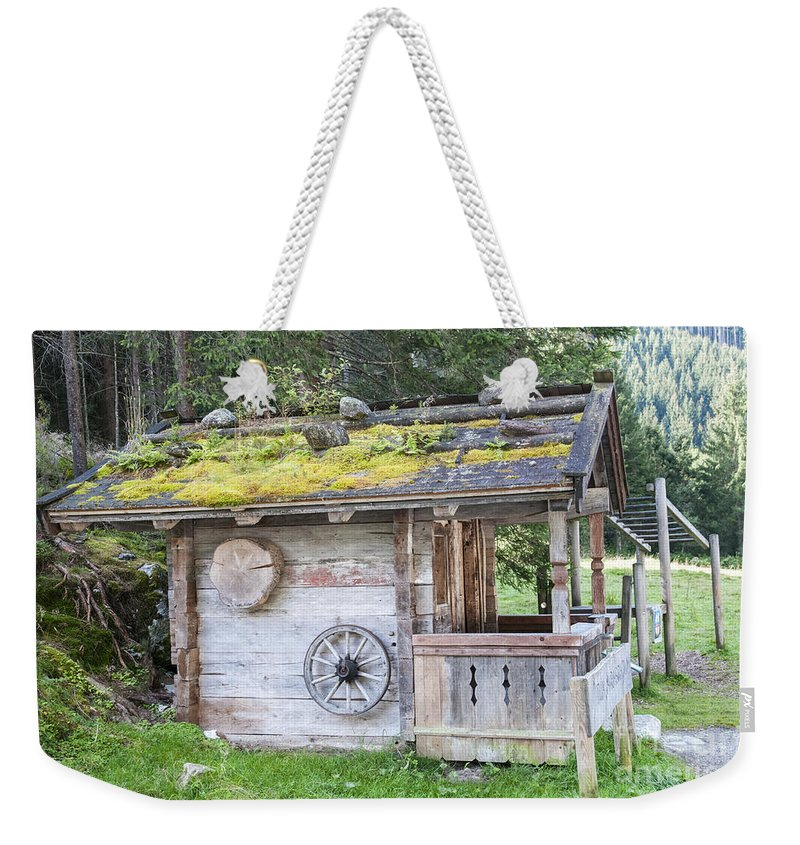 Cabin Weekender Tote Bag featuring the photograph Woodman's Cabin by Ilan Rosen