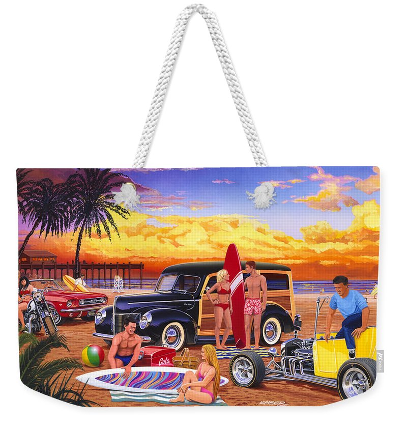 Adult Weekender Tote Bag featuring the photograph Woody Beach by Bruce kaiser