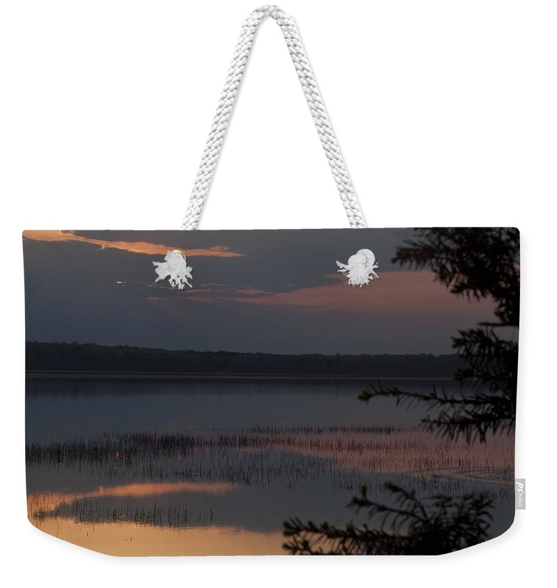 Sunrise Weekender Tote Bag featuring the photograph Worden's Pond Sunrise 2 by Steven Natanson