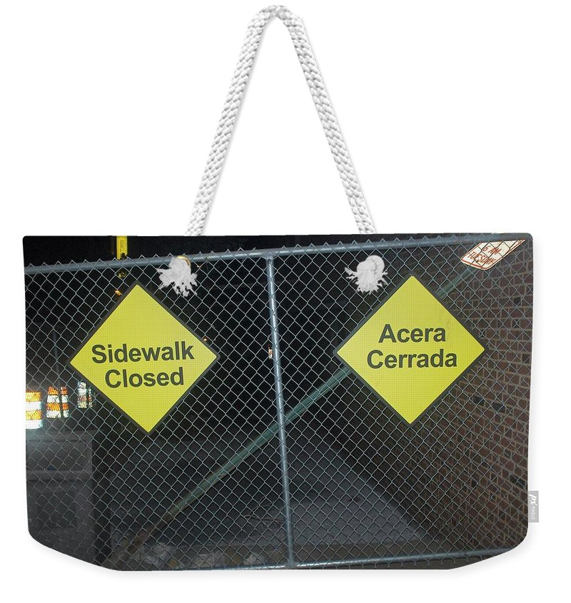 Photograph Weekender Tote Bag featuring the photograph Work Ahead by Thomas Valentine