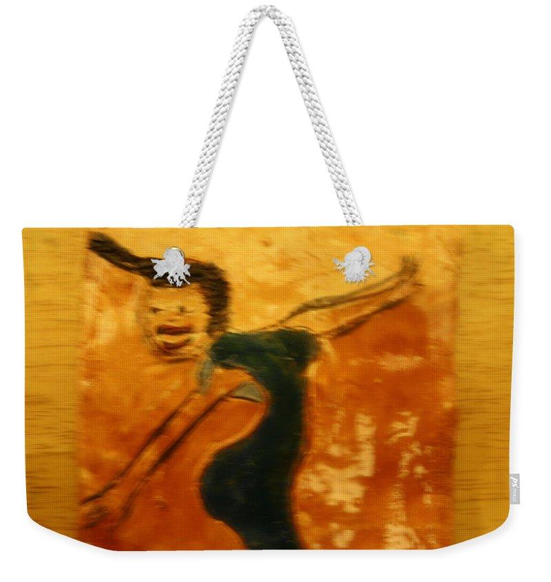 Jesus Weekender Tote Bag featuring the ceramic art Work It - Tile by Gloria Ssali