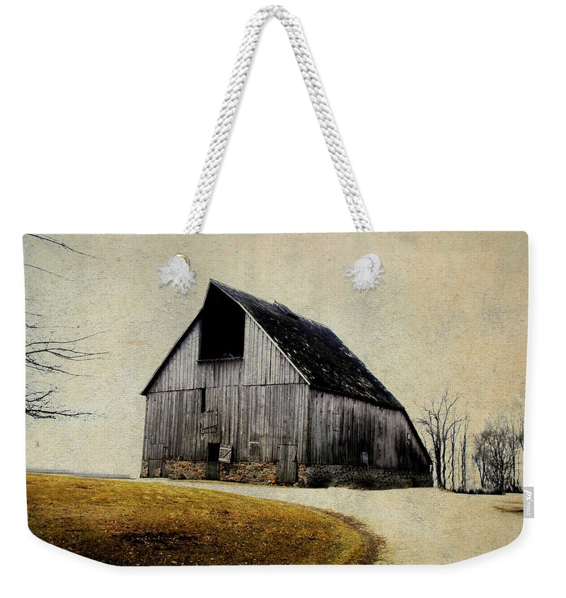 Barn Weekender Tote Bag featuring the digital art Work Wanted by Julie Hamilton