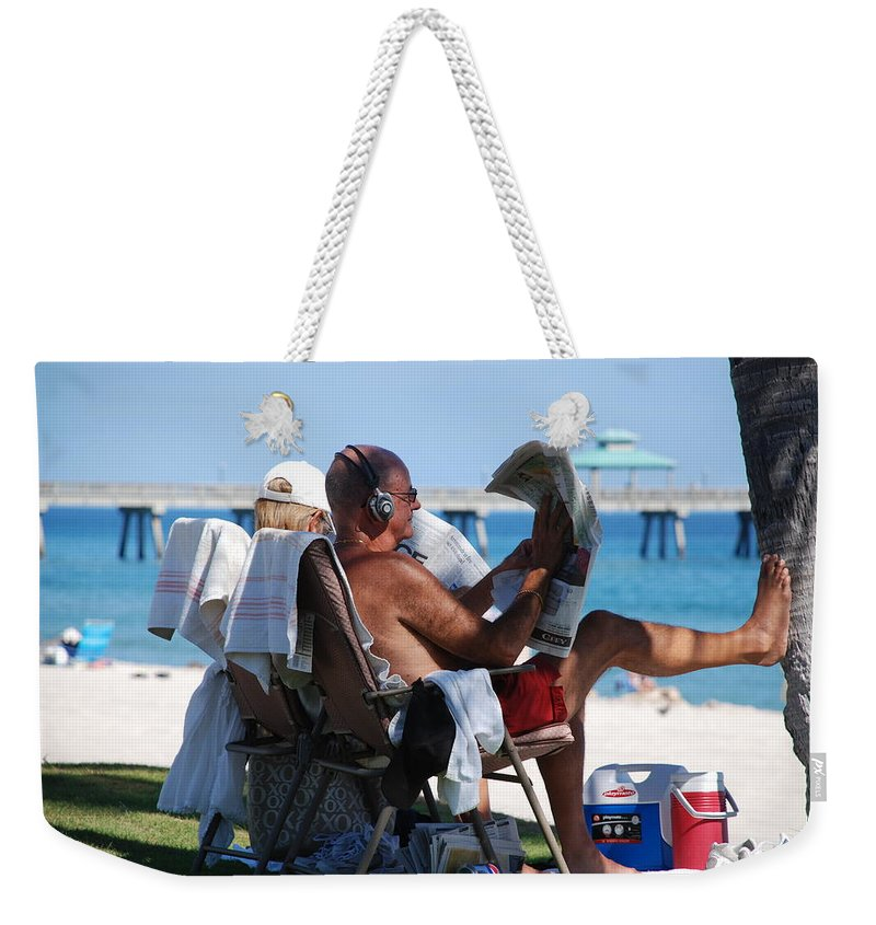Man Weekender Tote Bag featuring the photograph Working Hard by Rob Hans