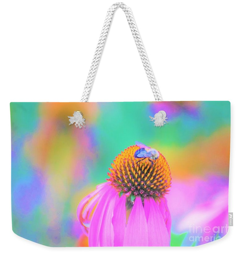 Flowers Weekender Tote Bag featuring the photograph Working It by Merle Grenz