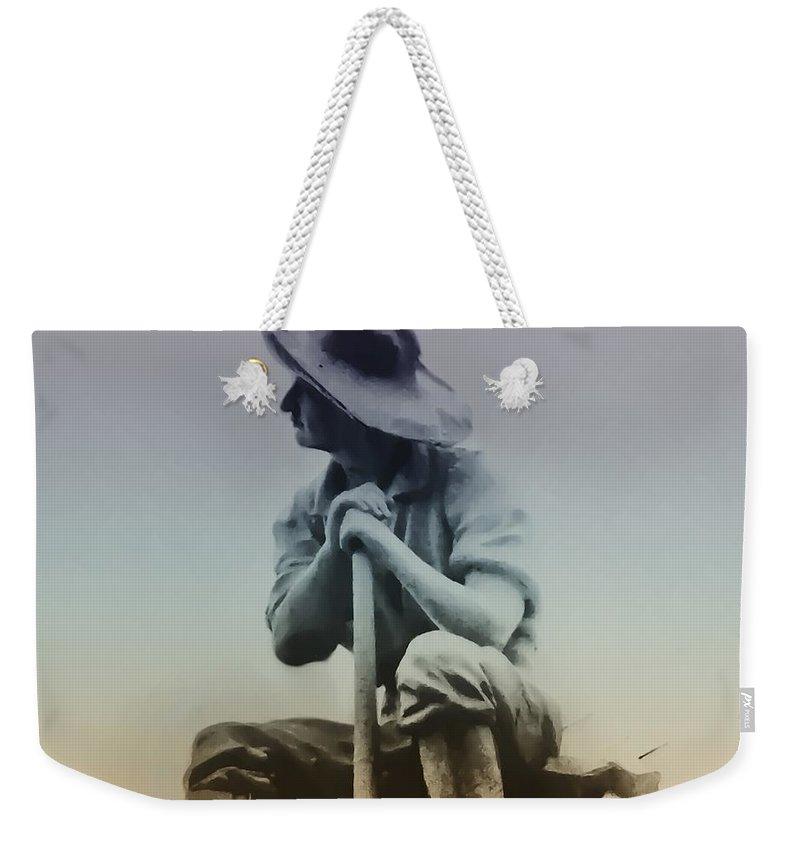 Philadelphia Weekender Tote Bag featuring the photograph Working Man by Bill Cannon