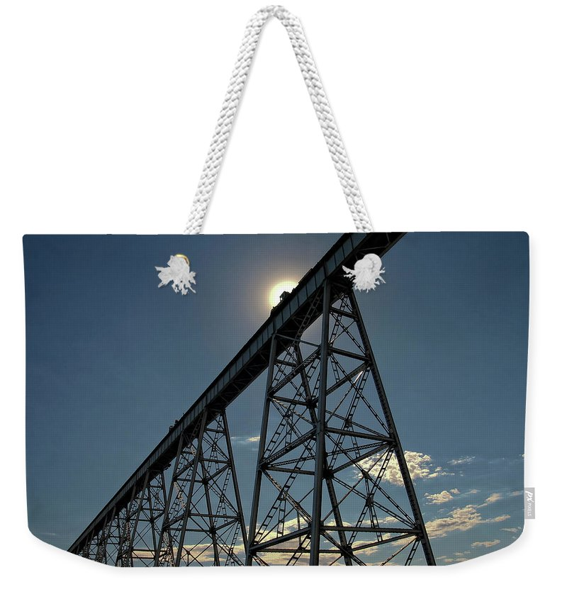 Eastern Weekender Tote Bag featuring the photograph Working On The Railroad by Albert Seger