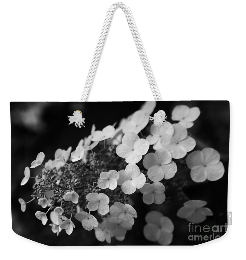 Hydrangea Weekender Tote Bag featuring the photograph Working Together by Amanda Barcon