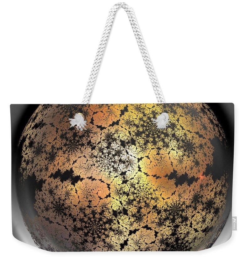 World Weekender Tote Bag featuring the digital art World by Deborah Benoit