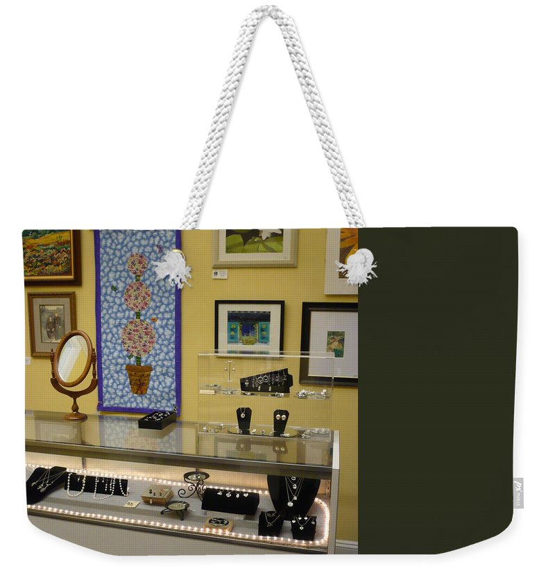 Oil Weekender Tote Bag featuring the painting World-view by Sergey Ignatenko