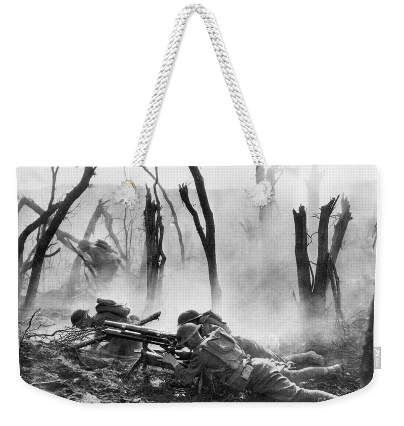 1918 Weekender Tote Bag featuring the photograph World War I: Battlefield by Granger
