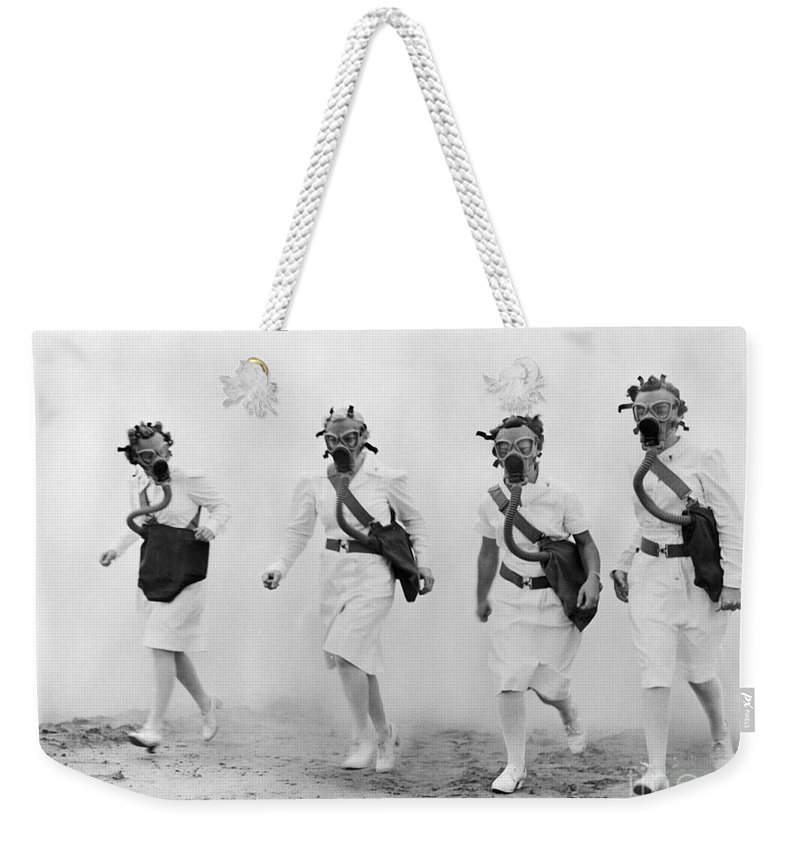 1942 Weekender Tote Bag featuring the photograph World War II: Nurses by Granger