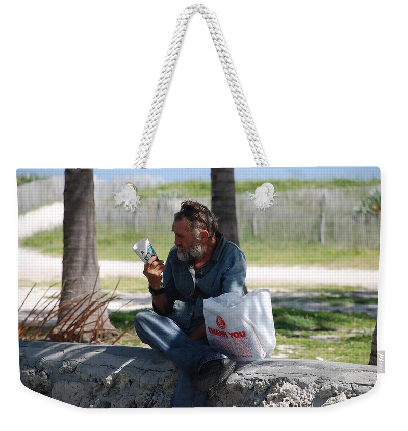 Man Weekender Tote Bag featuring the photograph Worldly Posessions by Rob Hans