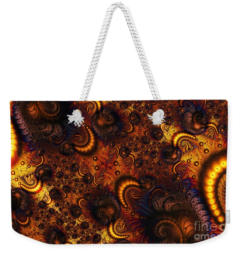 Clay Weekender Tote Bag featuring the digital art Worm Infestation by Clayton Bruster
