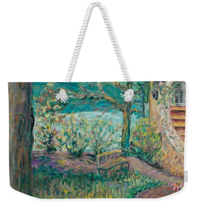 Big Cedar Lodge Weekender Tote Bag featuring the painting Worman House At Big Cedar Lodge by Nadine Rippelmeyer