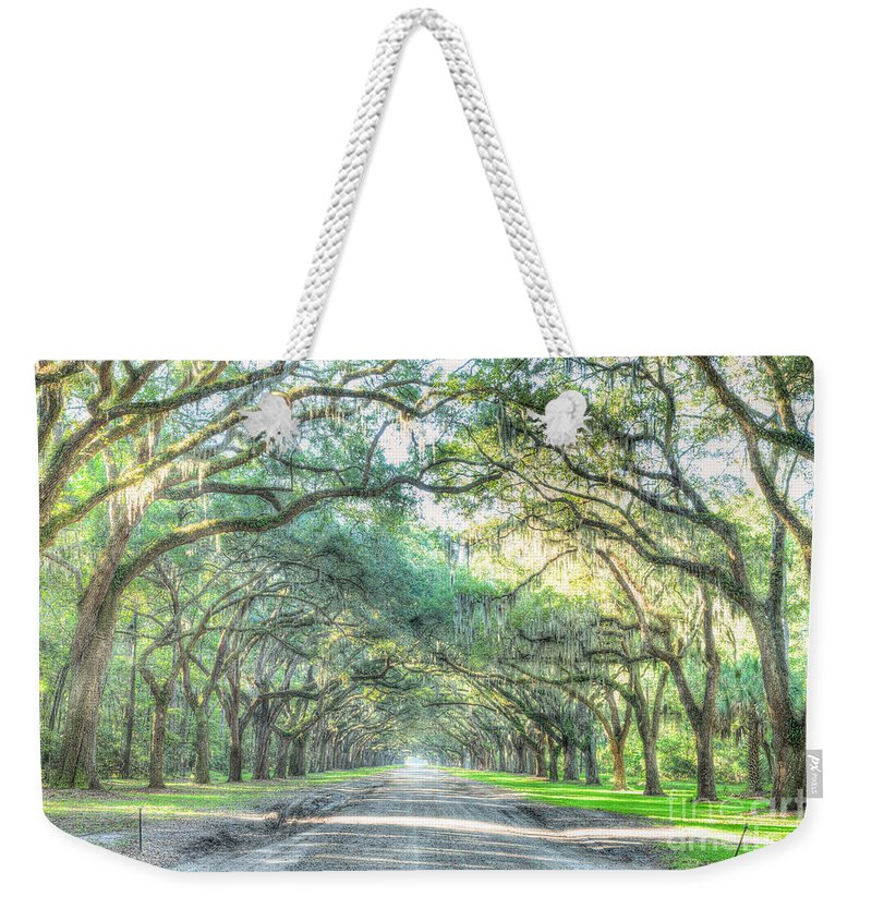 Wormsloe Weekender Tote Bag featuring the photograph Wormsloe by Patrick Shupert