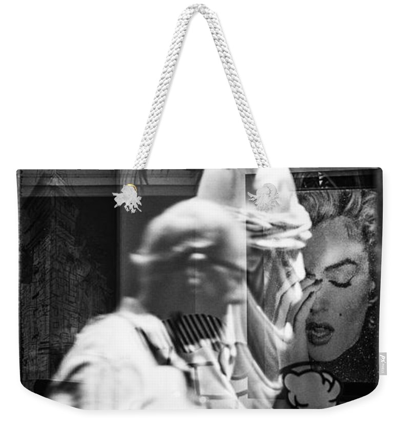 Florida Weekender Tote Bag featuring the photograph Worth Ave Reflections 0496 by Bob Neiman