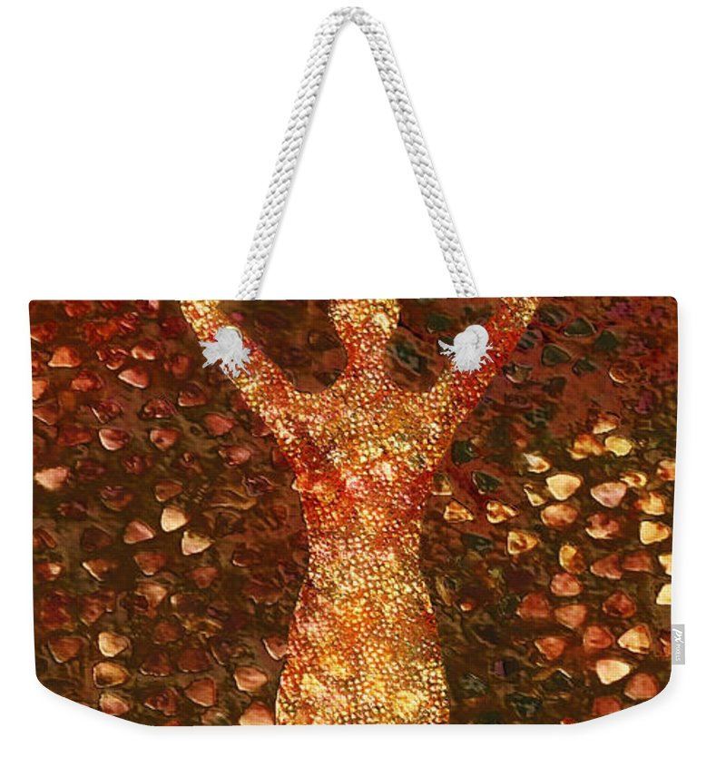 Photodream Weekender Tote Bag featuring the digital art Worth by Jacky Gerritsen