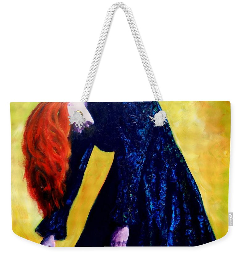 Acrylic Weekender Tote Bag featuring the painting Wound Down by Jason Reinhardt