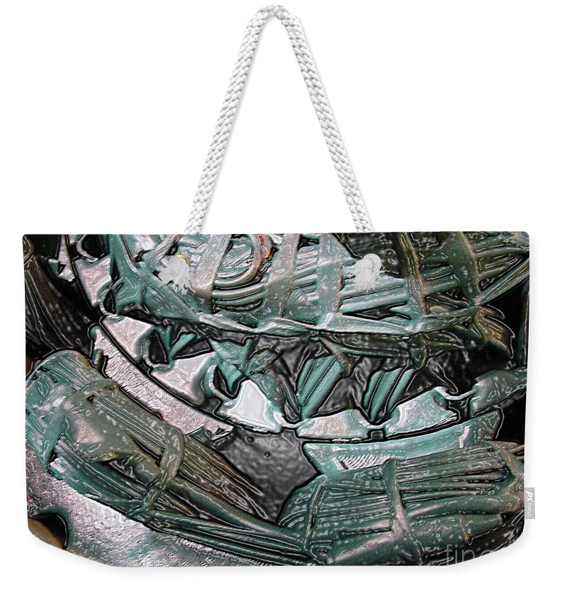 Digital Art Weekender Tote Bag featuring the digital art Wound Tight by Ron Bissett