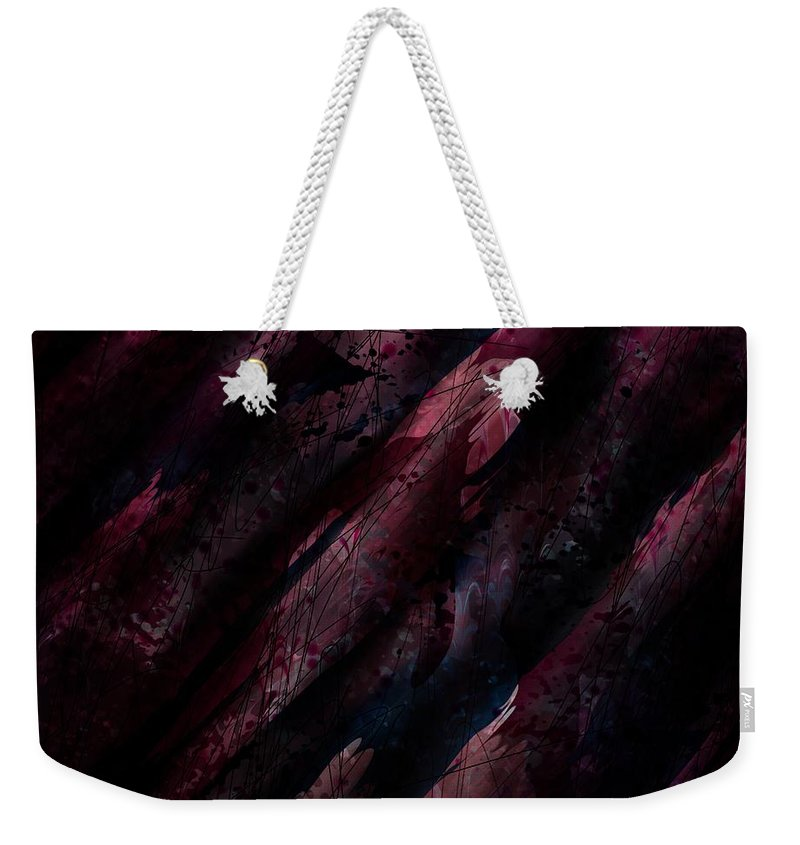 Abstract Weekender Tote Bag featuring the digital art Wounded Lamb by Rachel Christine Nowicki