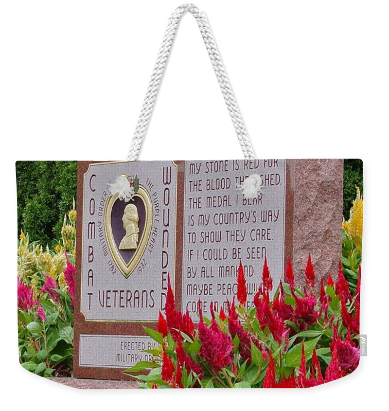 Monument Weekender Tote Bag featuring the photograph Wounded by Rick Monyahan