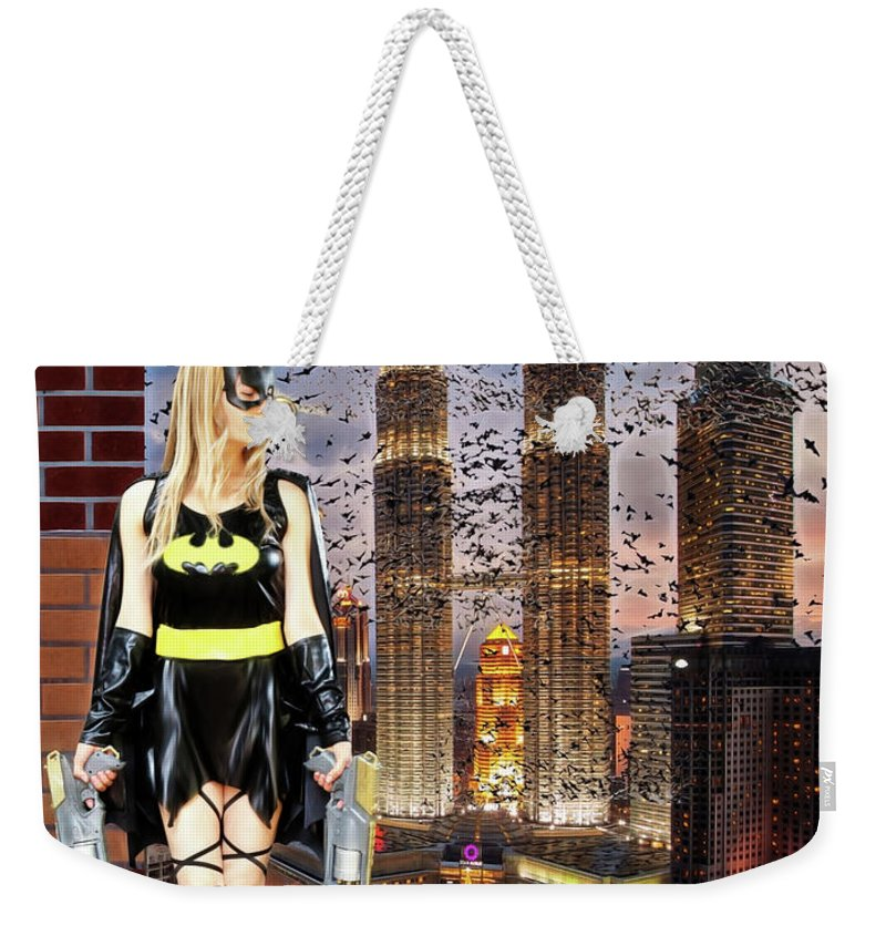 Bat Woman Weekender Tote Bag featuring the photograph Wraith Of The Bat by Jon Volden