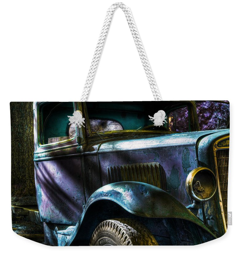 Digital Fantasy Weekender Tote Bag featuring the photograph Wrecking Yard Fantasy by Lee Santa