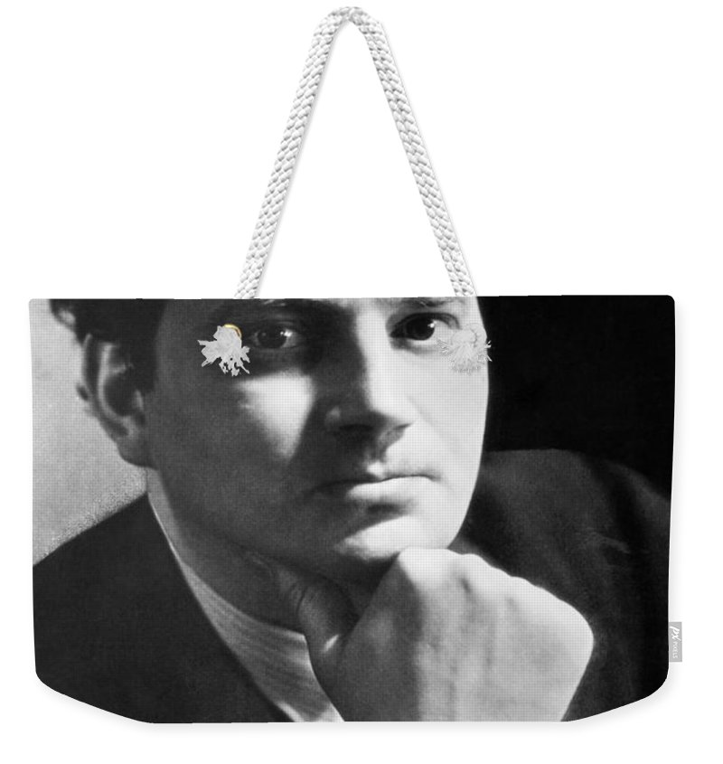 1 Person Weekender Tote Bag featuring the photograph Writer Thomas Wolfe by Underwood Archives