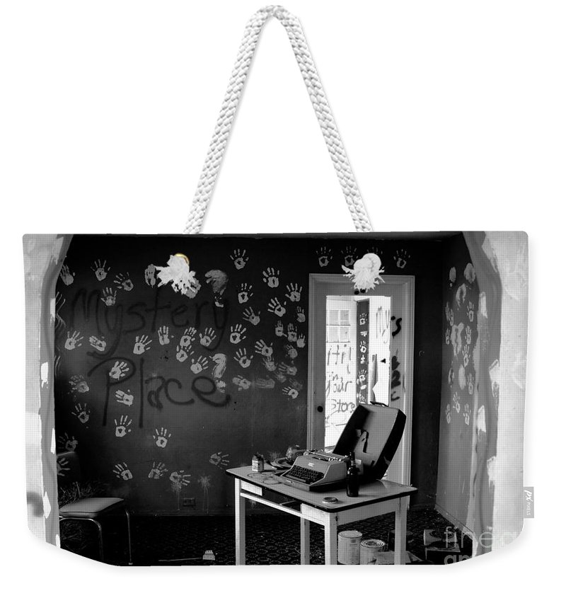 Writing Weekender Tote Bag featuring the photograph Writers Station by David Lee Thompson