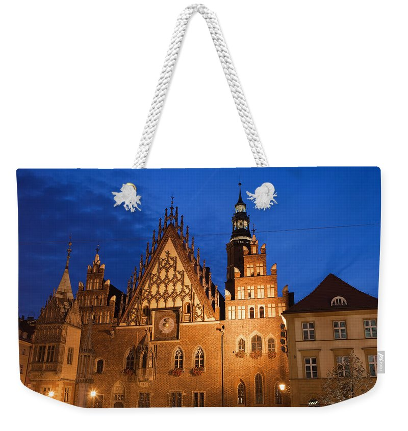 Wroclaw Weekender Tote Bag featuring the photograph Wroclaw Old Town Hall At Night by Artur Bogacki