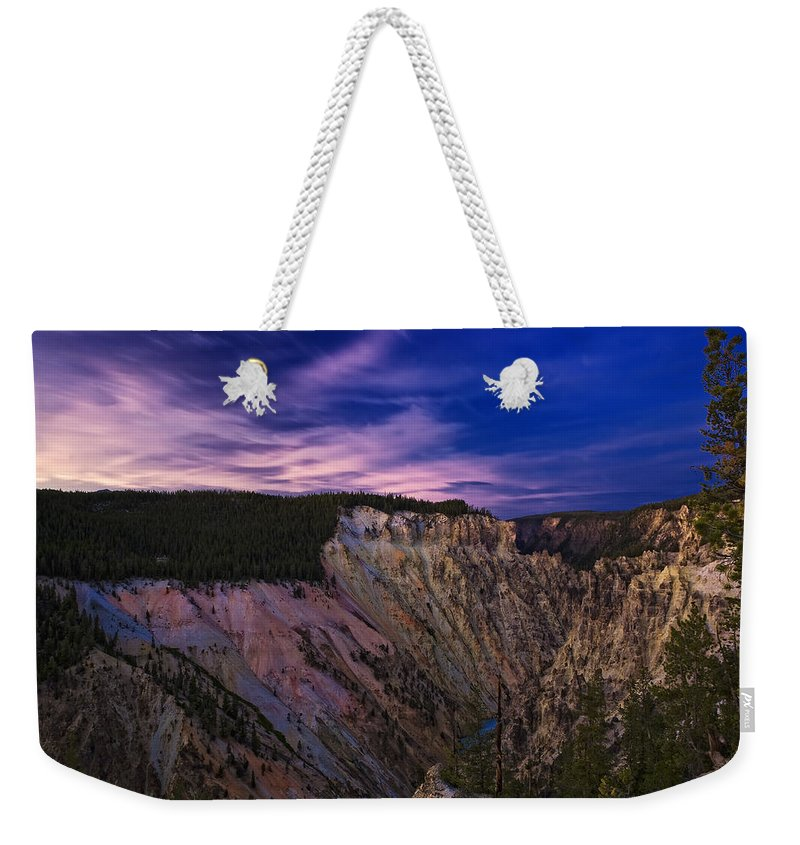 Nature Weekender Tote Bag featuring the photograph Wyoming Sunset by John K Sampson