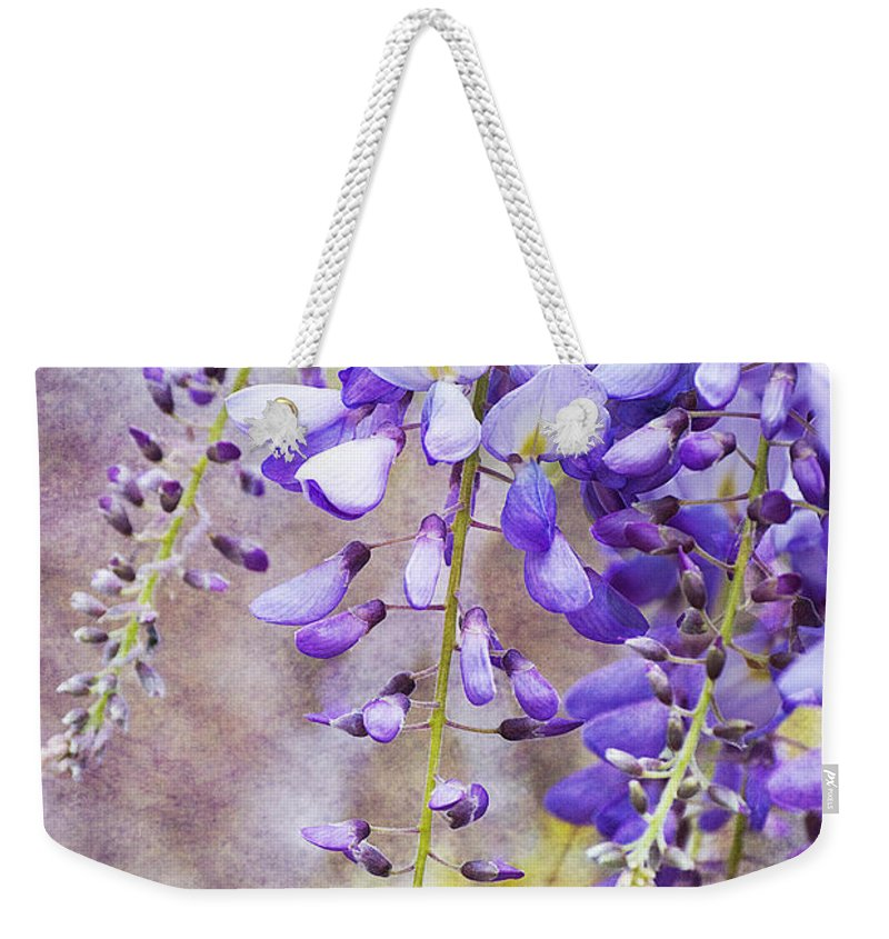 Wysteria Weekender Tote Bag featuring the photograph Wysteria by Jim And Emily Bush