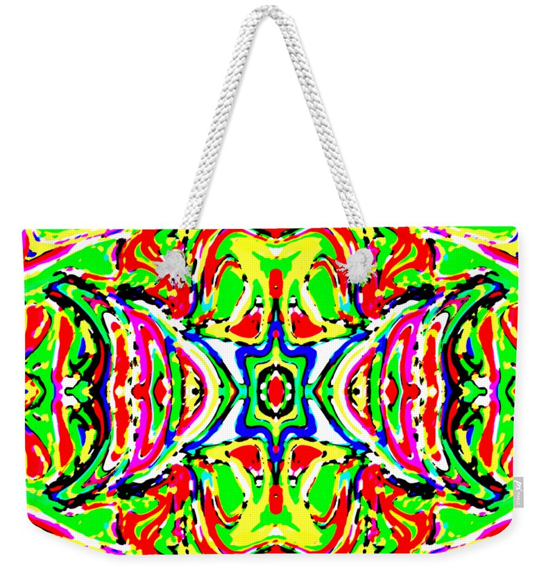 Art Weekender Tote Bag featuring the digital art Wyver by Blind Ape Art
