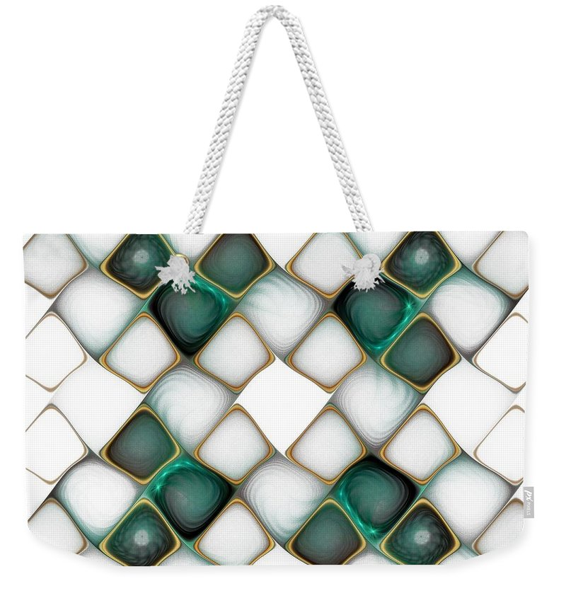 Digital Art Weekender Tote Bag featuring the digital art X Marks the Spot by Amanda Moore