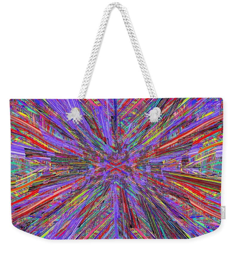 Abstract Weekender Tote Bag featuring the digital art X Marks The Spot by Tim Allen