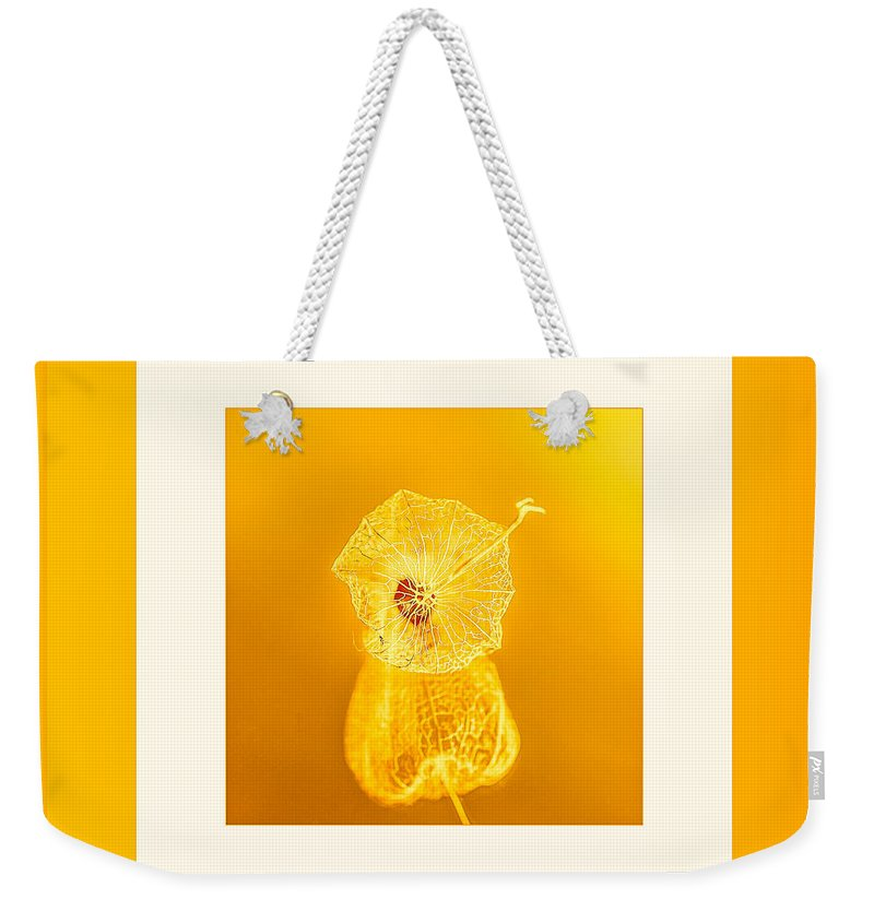 Yellow Flowers Weekender Tote Bag featuring the photograph Xanthic by Mona Stut