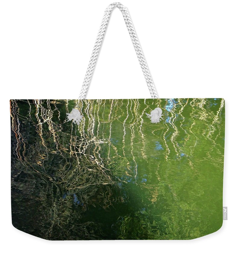 Water Weekender Tote Bag featuring the photograph Yawning Depth by Donna Blackhall
