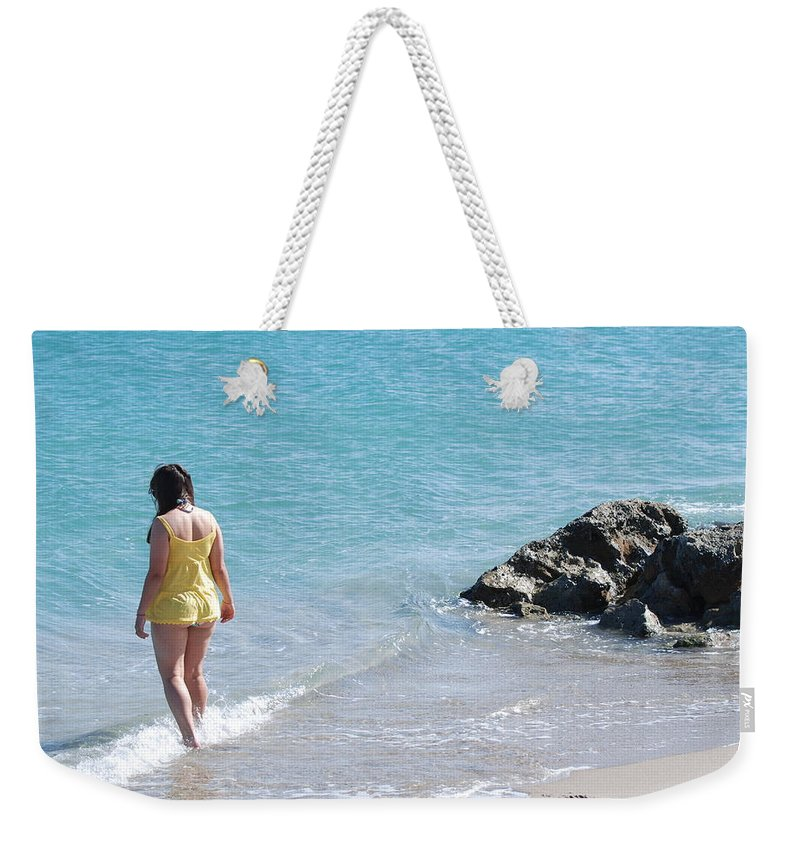 Sea Scape Weekender Tote Bag featuring the photograph Yellow And Blue by Rob Hans