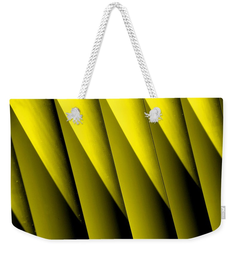 Yellow Borders Weekender Tote Bag featuring the photograph Yellow Borders by Susanne Van Hulst