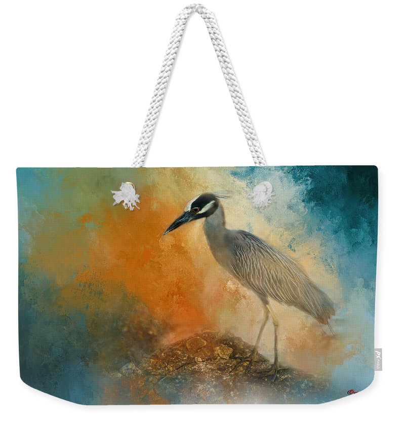Best Sellers -  - Yellow Crowned Night Heron Weekender Tote Bags