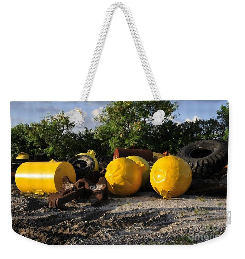 Yellow Weekender Tote Bag featuring the photograph Yellow by David Lee Thompson