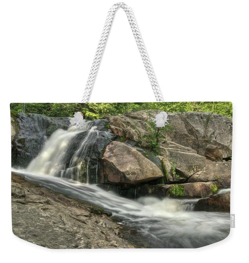 Yellow Dog Falls Weekender Tote Bag featuring the photograph Yellow Dog Falls 4 by Michael Peychich