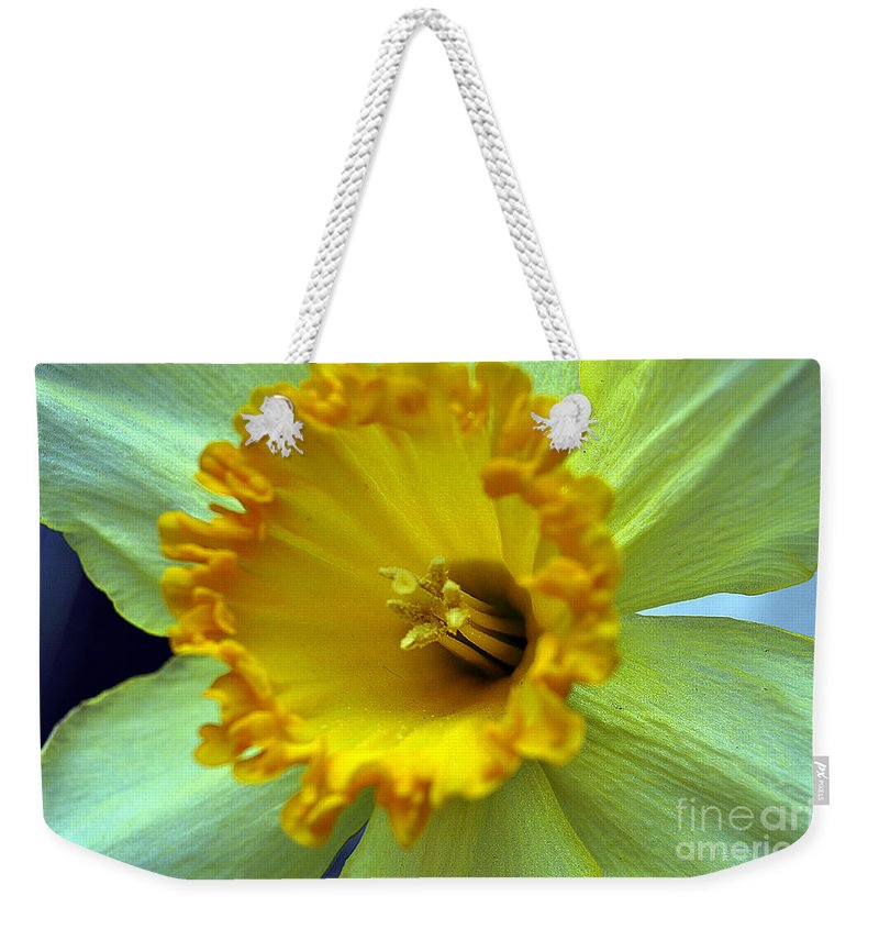 Clay Weekender Tote Bag featuring the photograph Yellow Floral by Clayton Bruster