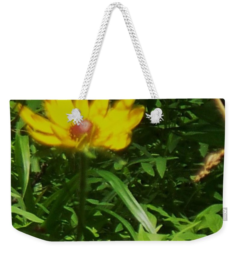 Flower Weekender Tote Bag featuring the photograph Yellow Flower by Eric Schiabor