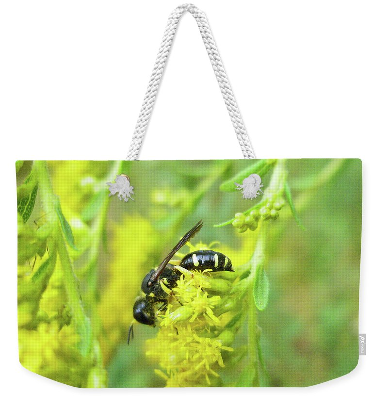 Wasp Weekender Tote Bag featuring the photograph Yellow Jacket by Mother Nature