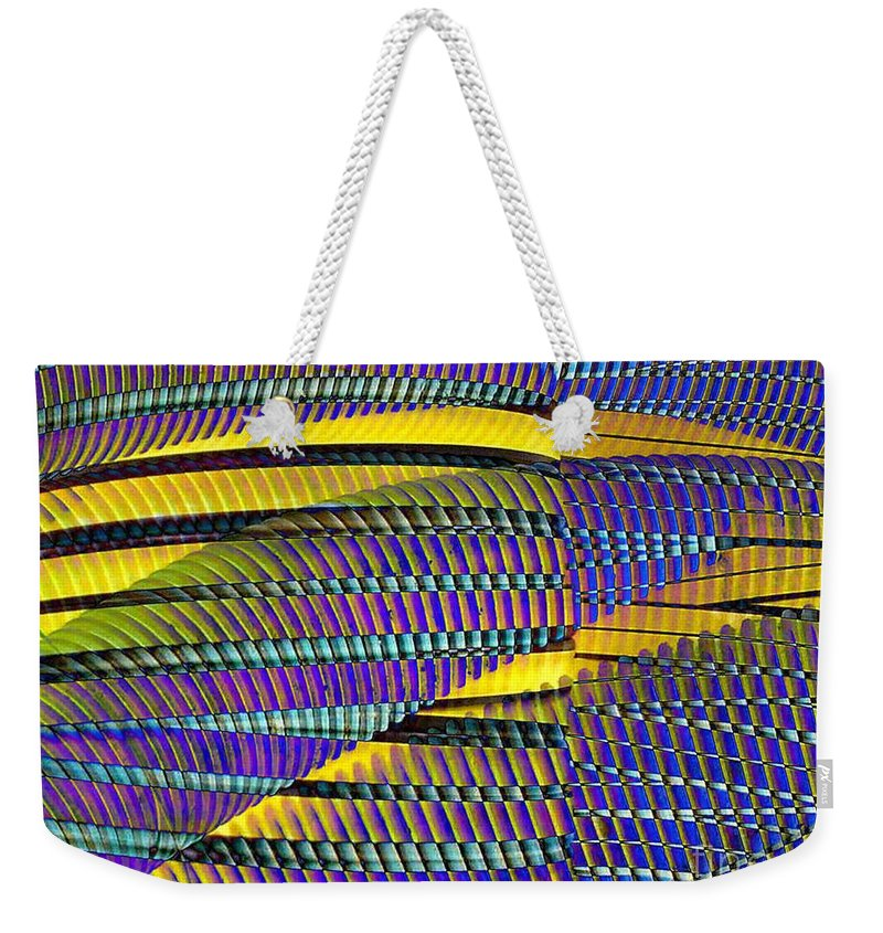 Yellow Jacket Weekender Tote Bag featuring the photograph Yellow Jacket by Ron Bissett